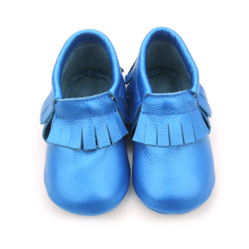 Wholesale Real Leather Anti Skid Baby Moccasins