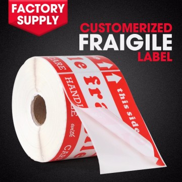 Custom print fragile shipping label adhesive warning sticker