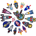 Cheap 3d rocket Embroidery Iron Patches for Clothing