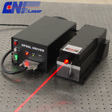5w long liftime 671nm red laser for measurement
