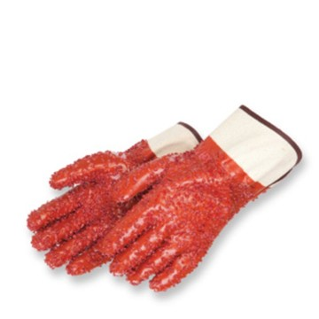 Anti slip PVC coated gloves safety cuff