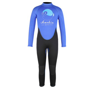 Seaskin Long Sleeves Back Zipper Neoprene CR Fullsuits