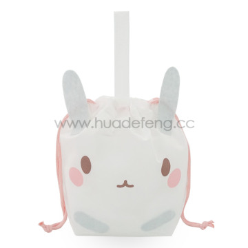 White Non-woven Bunny Party Handle Gift Packing Bag