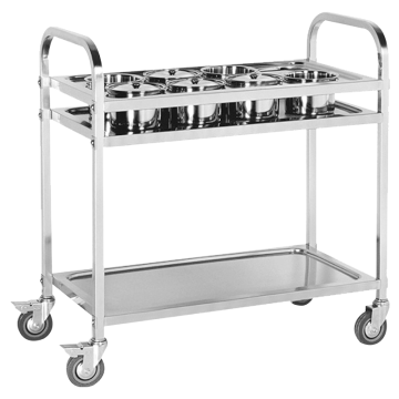 Stainless Steel Saucing Cart