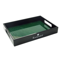 Emerald Acrylic Serving Tray with Handle