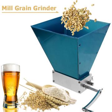 2-Roller Manual Barley Malt Mill Grain Grinder Crusher Mortar and Pestle Corn Peanut Food Grinder Powder Machine for Homebrew