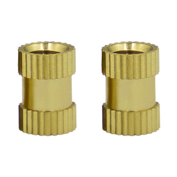 Fastener supplier m6-m8  knurled threaded insert brass nut