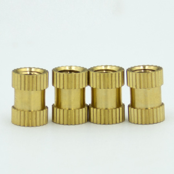 Fastener knurled thread insert brass nut