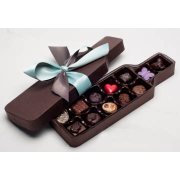 Bottle Shaped Branded Chocolate Packaging Boxes