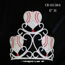 Three Heart Rhinestone Crystal Crown Valentine's Gift
