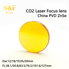 China PVD Znse CO2 laser focus lens Dia. 12 18 19.05 20 mm FL 1.5 2 2.5 3 4 5 inch for laser cutting machine