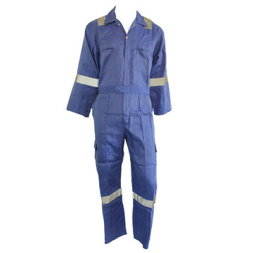 high visibility coverall workwear with reflective tape