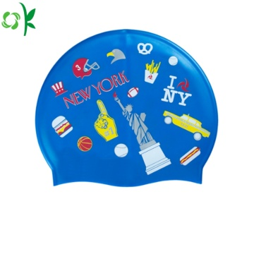 Hot Selling Waterproof Silicone Swim Cap for Swimming