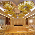 Lobby customized project crystal chandelier pendant light