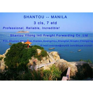 LCL Consolidation Shipping from  Shantou to Manila