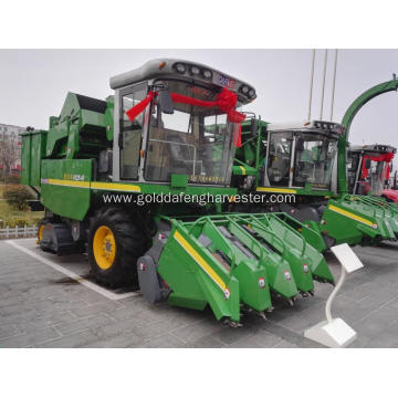 corn harvester four rows cutting machine picker