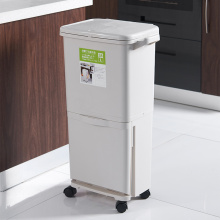 Plastic sorting bin Double  trash Can