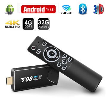 Mini Tv Stick Box TV Android 10 4K 4G 32G Android Tv Box 2.4G 5.8G Dual Wifi Smart Tv Box Media Player TV Receiver Set Top Box