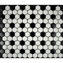 Color Mixed Hexagon Button Decoration Mosaic