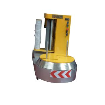 Semi-auto luggage wrapping machine