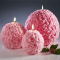Rose Carving Appearance Christmas Candle