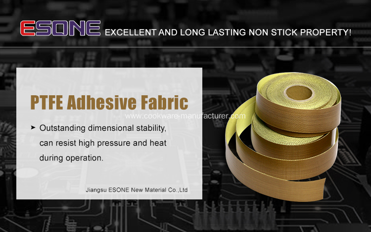 Heat resistant PTFE adhesive fabric for sealing machine