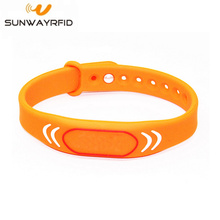 Waterproof 13.56mhz nfc bracelet rfid silicone wristband