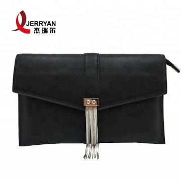 Black Leather Clutch Bags Sling Handbags Purses