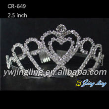 Silver Clear Rhinestone Pageant Tiaras