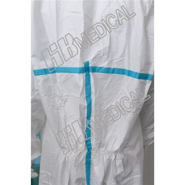 Breathable PP Coated PE Film Coverall