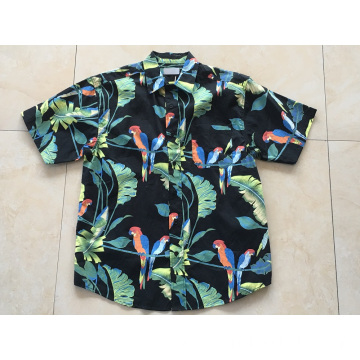 Man cotton printing hawaiian shirt