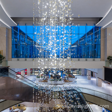 Shopping mall supermarket long ball chandelier