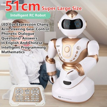 Simulation Smart Remote Control RC Robot Music Dance Walking Cool Lights Missile Multifunctional Learning Toys Children's Toys