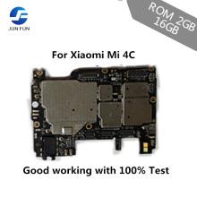 JUN FUN ROM 2GB+16GB Unlocked Main Board Mainboard Motherboard With Chips Circuits Flex Cable For Xiaomi Mi 4C Mi4C M4C