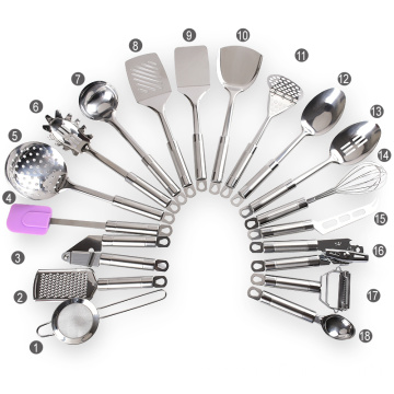 cookware set stainless steel kitchen utensil set
