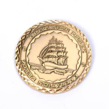 Gold Plated Custom Commemorative Coin
