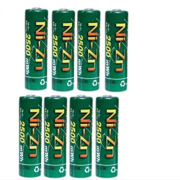8Pcs BPI NiZn 1.6V 2500mwh AA Rechargeable Battery