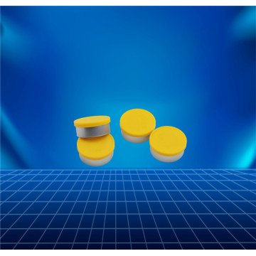 yellow aluminium and plastic cap for vial