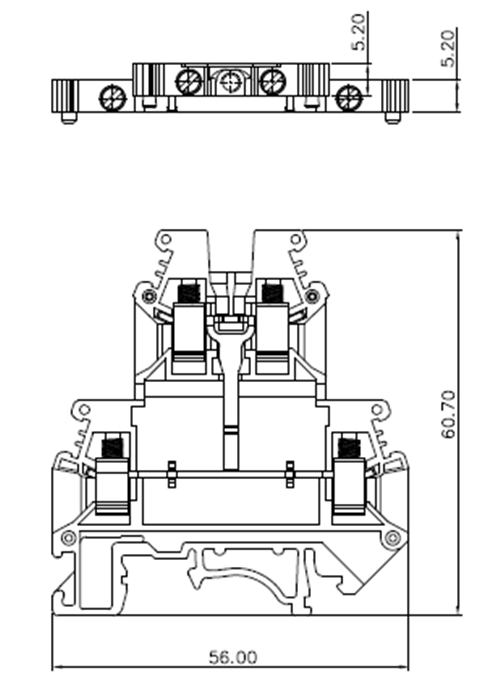 Mount Screw Fixed Terminal Block