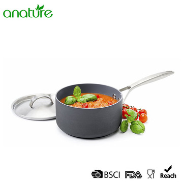 6.5 Inch Hard Anodized Sauce Pan With Lid