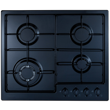 CDA Gas Stove 60cm Black Steel Top