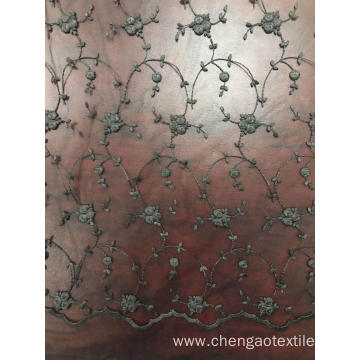 Spray Design Mesh Embroider Fabric