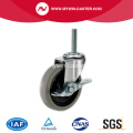 2'' Thread Stem TPR Light Duty Industrial Caster with side brake