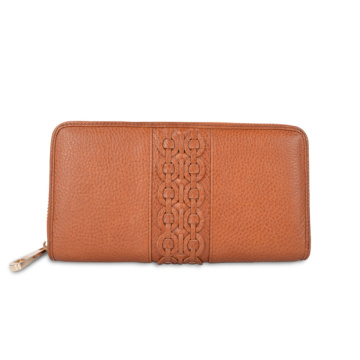 Zip Around Tan Leather Exclusive Wallet For Ladies