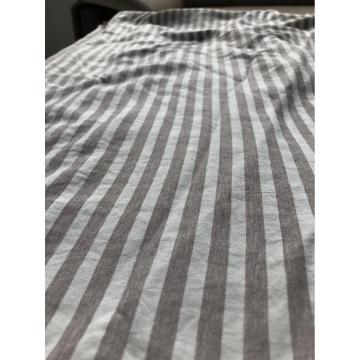 polyester cationic  Stripe fabric for bedsheet
