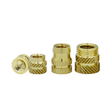 Threaded Knurled Brass Insert Nut For Plastic