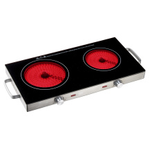 Double 2800W Burner Cooktop Radiationless Infrared Cooker