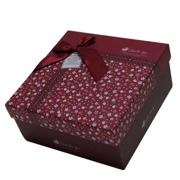 Luxury square carton rigid gift box