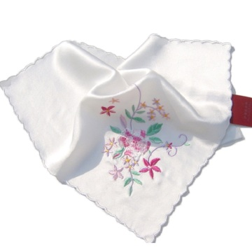 Hankerchief Embroidery Wedding Gift Pocket Square Flower