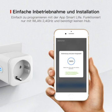 110-240V Smart Plug WiFi Socket EU 16A Power Monitor Timing Function Tuya SmartLife APP Control Work With Alexa Google Assistant